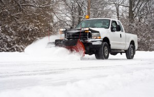 Plowing the Parking lot